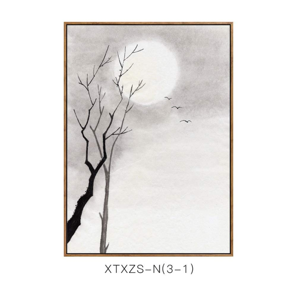 DEED New Chinese-Style Living Room Porch Bedroom Decorative Painting, Sofa Background Wall Office Landscape Painting, Hanging Painting
