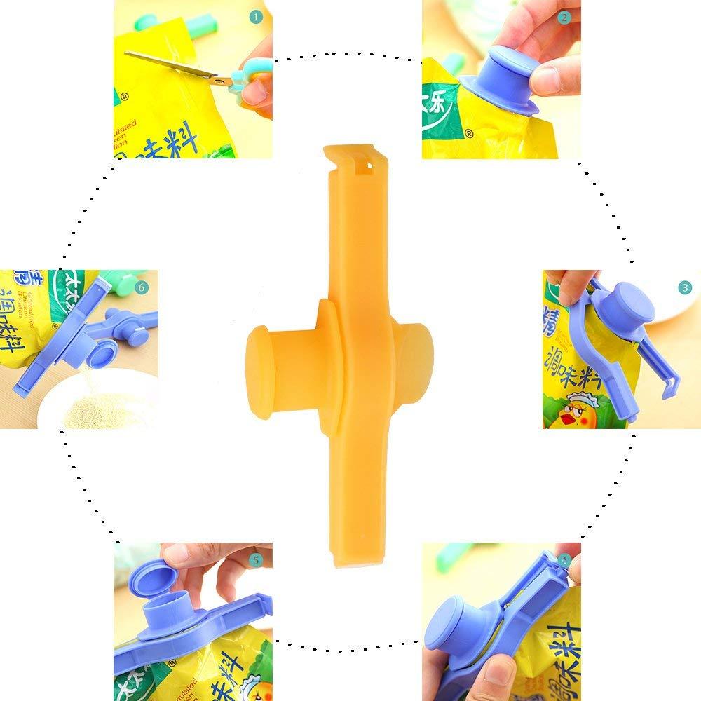Eco-vriendelijke Aangepaste Kleurrijke Voedsel Brood Zak Afdichting Plastic Clip Met Slot