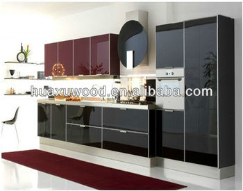 Wine Red/black Whole Kitchen Cabinet - Buy Laminate Kitchen Cabinet,Movable  Kitchen Cabinets,Prefab Kitchen Cabinet Product on Alibaba.com
