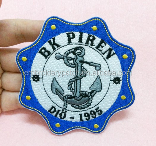 Sew on Uniform Badge Custom Embroidery anchor Patch
