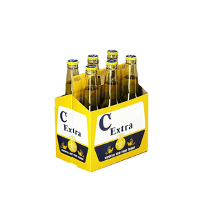 Corrugated shipping 4 6 bottle pack beer carrier wine cardboard box