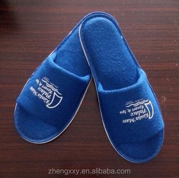 ba6b9cb4a3cbe0 Biru Bisa Dicuci Hotel Sandal Dengan Logo Cetak Dan 5 Mm Eva Tunggal ...