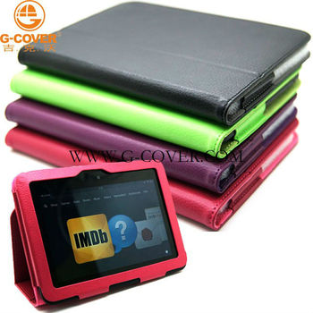 Book stand leather case for Kindle Fire HD 7 inch