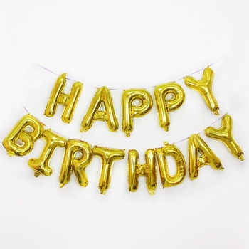 16 Inch Wholesale Happy Birthday Decorations Party Aluminum Foil Letter Balloons