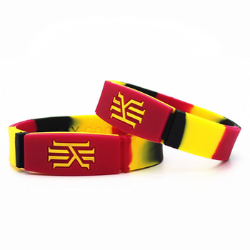 full colourful print silicone kids sport bracelets