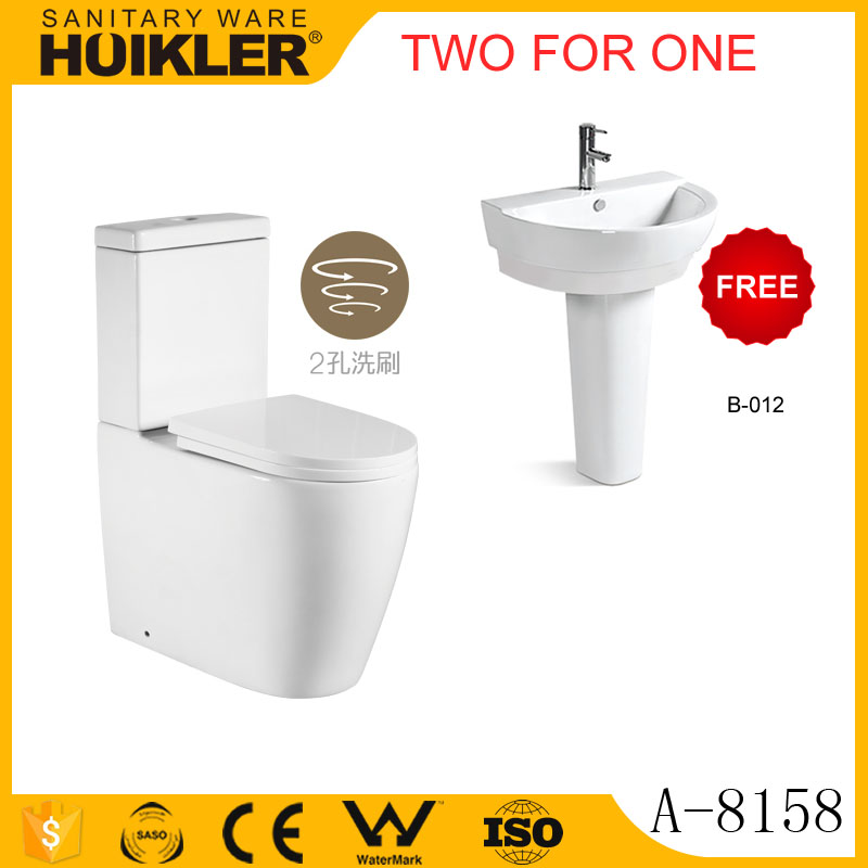 Two for One A-8158 sanitary ware bathroom toilet commode factory price