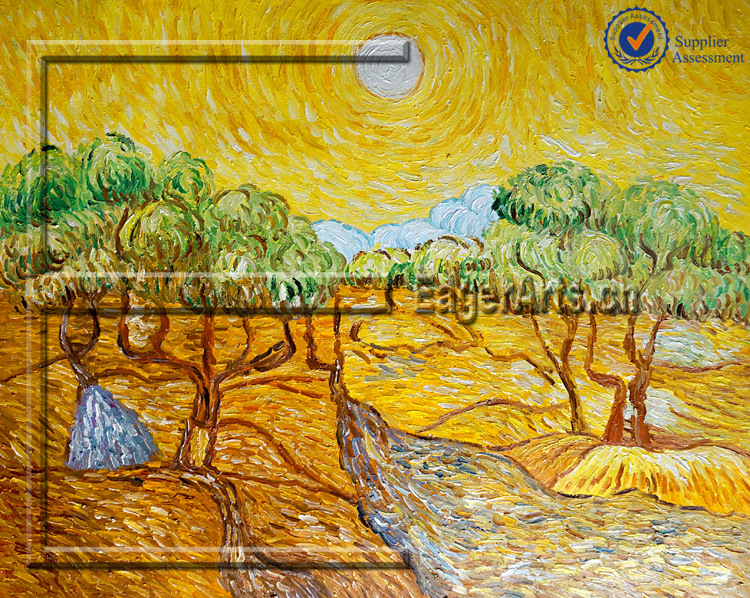 Shenzhen Dafen Hamdmade Impression Canvas Art Famous Landscape Reproduction Oil Painting Van Gogh