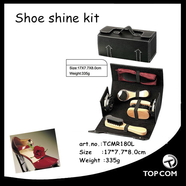 Deluxe MILITARY Shoe/Boot Shine Polish/Care Kit 6 Piece - NEW