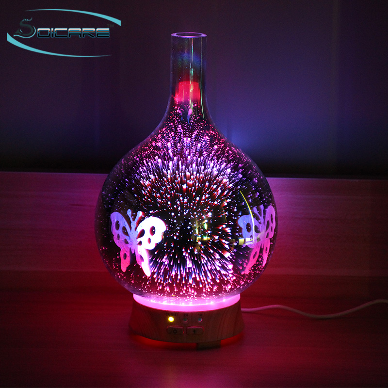 SOICARE 3D effect led lights aroma diffuser beauty night lamp