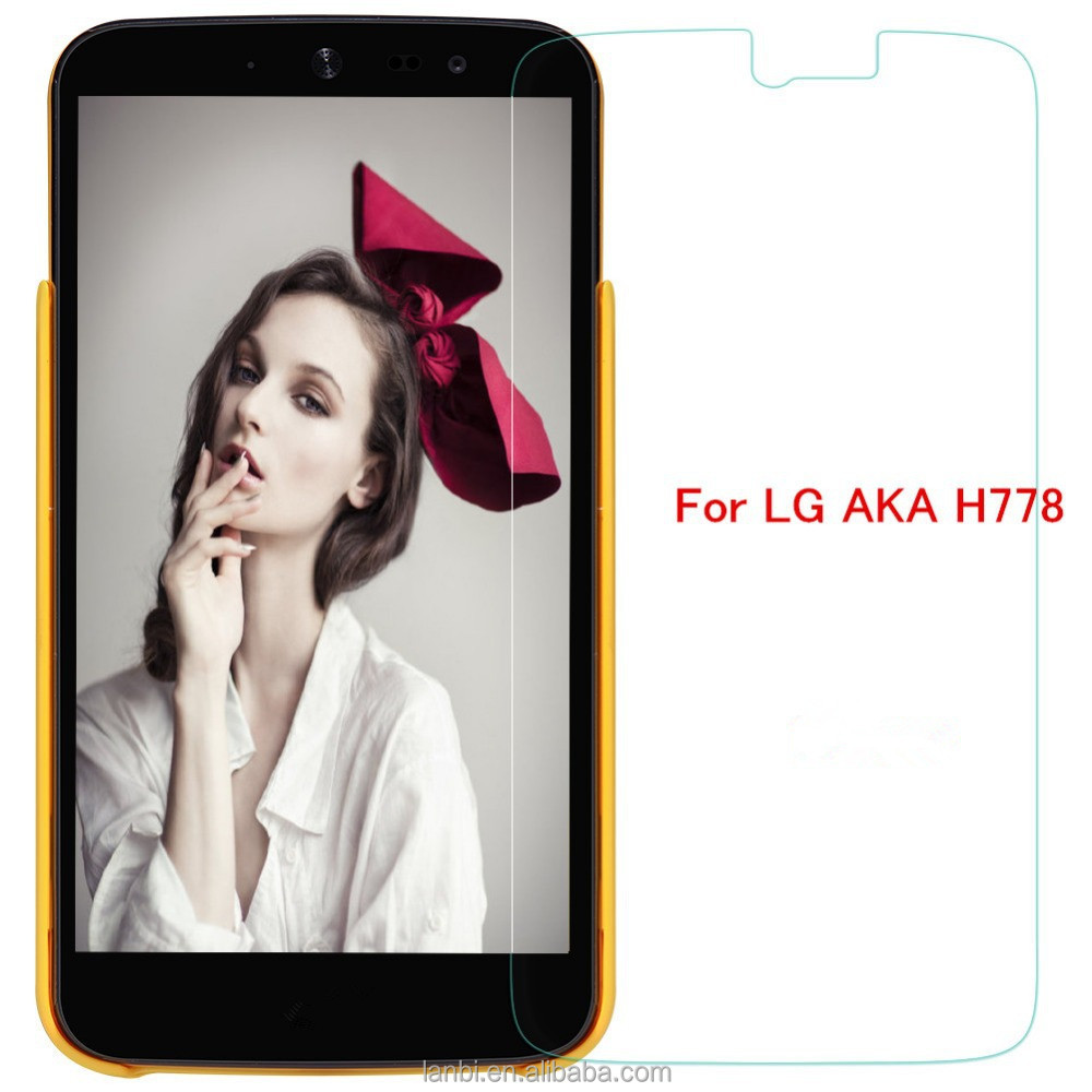 High Quality 2.5D anti fingerprint Tempered Glass Screen Protector for LG AKA H778 H788 F520 anti spy screen protector