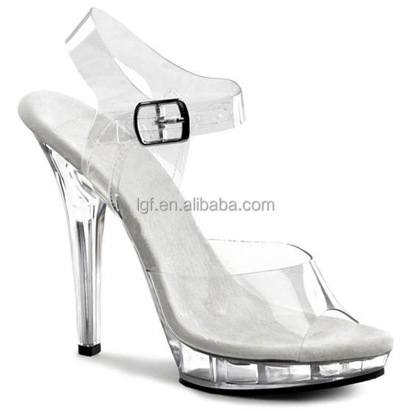 Latest fashion sandal design sexy crystal shoes Stiletto high heels Sexy pole dance sheos