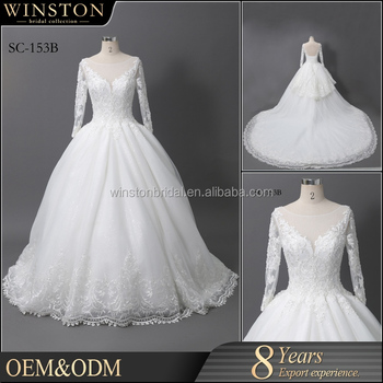 Best Selling Pictures Of Latest Gowns Designs,White Lace V-back 2017 ...