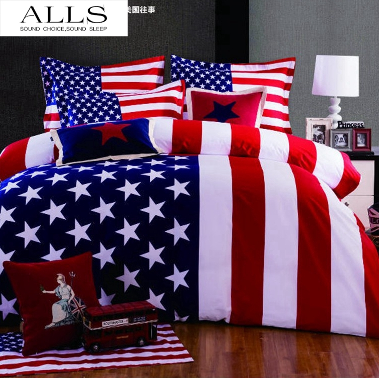 online kaufen gro handel amerikanische flagge bettw sche aus china amerikanische flagge. Black Bedroom Furniture Sets. Home Design Ideas