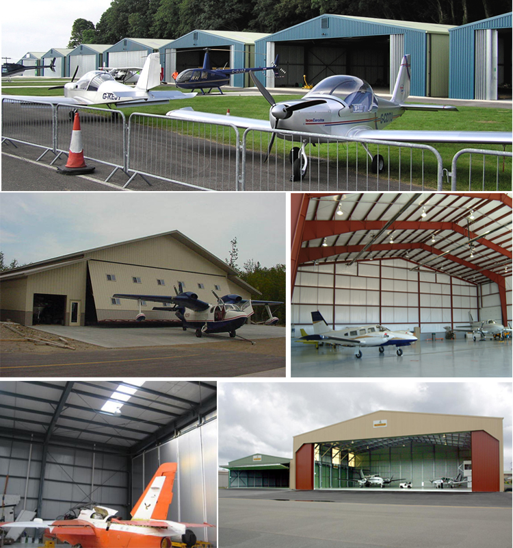 Factory Plant Direct Prefabricated Steel Structure Aircraft Hangar Shed
