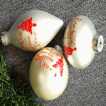 Hand Painted christmas tree ornament glass ball for sale