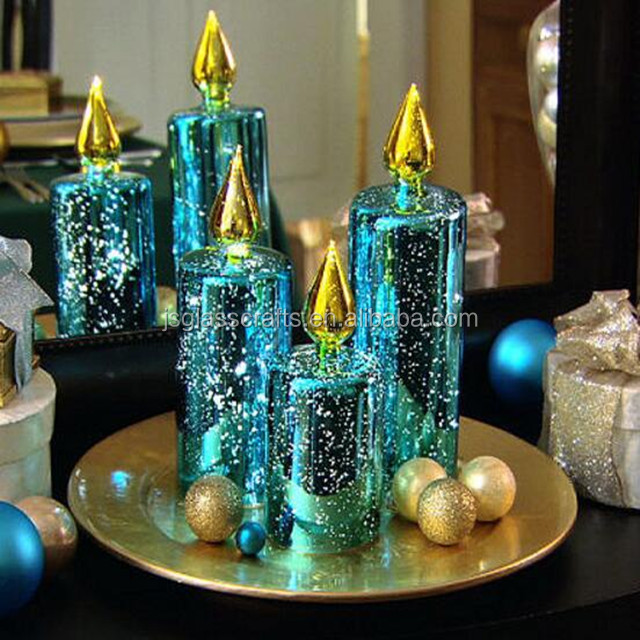 Led glass candle for christmas holiday home decoration christmas ornament