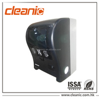 clear black ABS plastic hand holder auto cut paper towel dispenser
