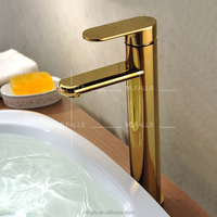 Hot Sale Tabletop Single handle Brass Taps Upc Gold Bathroom Faucet For Wash Basin
