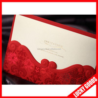 Best price hot sale branded chinese unique wedding invitation card