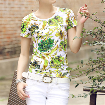 Sublimation T Shirts Printing In Flower Design And Girl T Shirts