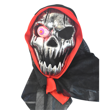 2018 New Halloween Plastic full face horror ghost Skull LED masquerade Party Mask for sale