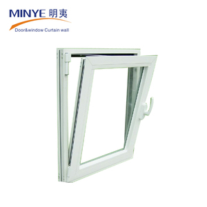 Factory price small wooden aluminum awning top hung window