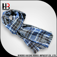 Fashion winter muffler plaid wool cashmere scarf shawl