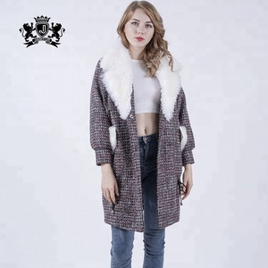 New Winter Women Thicken Fur Collar Rough Imitation Wool Coat Down Short Parka Jacket