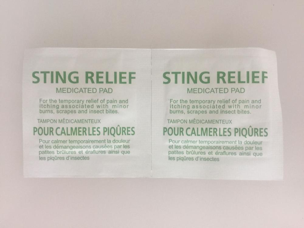Antibacterial Sterile Sting Relief Pad