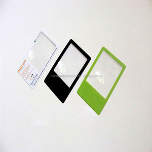 flexible card flat plastic magnifier