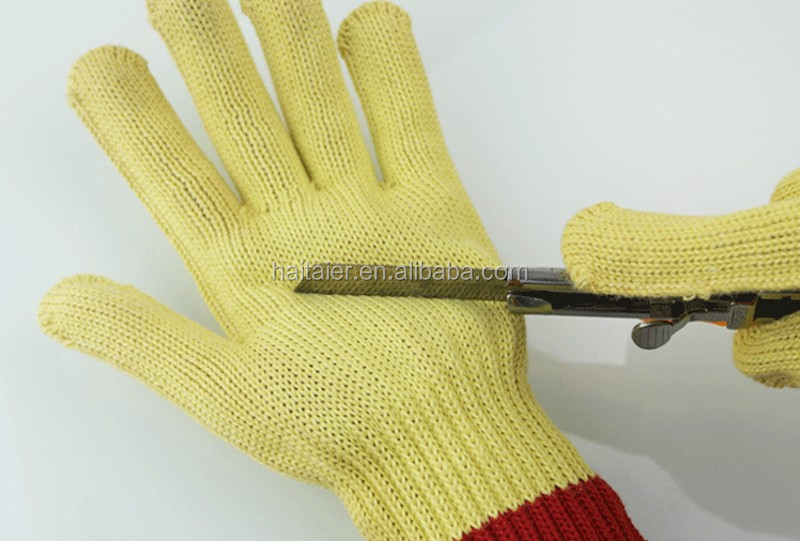 Htr Yellow Aramid Fiber Anti-cut Glove Cut Resistant Gloves