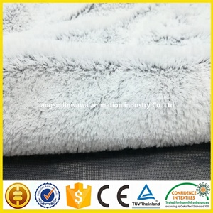 PV plush velboa warp knitted fabric 500g/m plush two times brushing 100%poly fabric stores