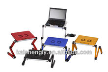 JLT Very Welcome Adjustable Aluminium Laptop Table With Cooling Fans