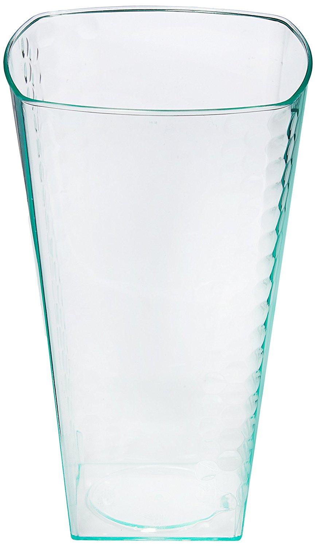 e140eac9f6c Squarete Hexagons Translucent Hard Plastic Square Party Cups   Tumblers