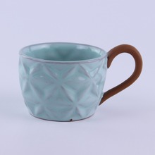 terracotta stoneware ceramic coffee mug shapes with oem handle dehua manufacturers