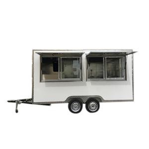 Glass Re-enforced Panel mobile restaurant food cart trailer /food cart trailer designer stall