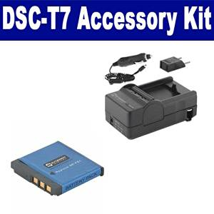 Sony DSC-T7 Digital Camera Accessory Kit includes: SDNPFE1 Battery, SDM-156 Charger