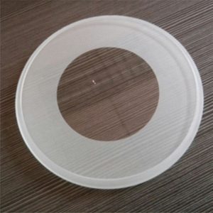 China Manufacturer custom made round glass light cover, outside light cover