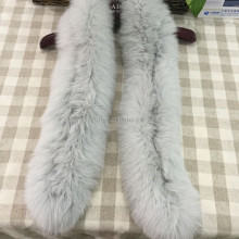 Fox Fur Collar / Trimming / Fox Fur Strip For Jacket Hood