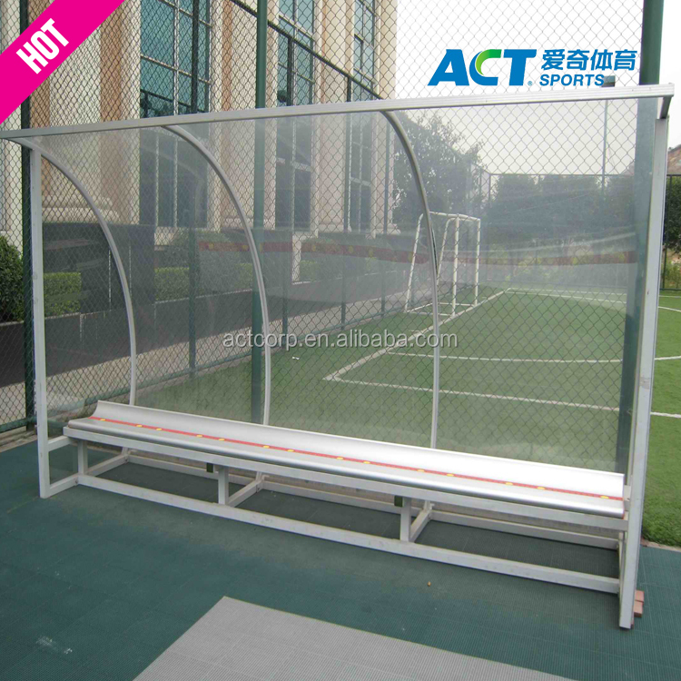 0cb9aa9f9 Portable Soccer Team Shelter Pop-Up Dugout For Soccer Weatherproof  Pitchside Protection Net World Sports