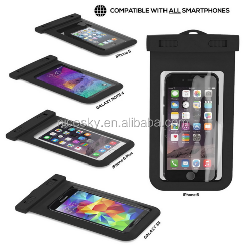 New PVC Waterproof Underwater Luminous Pouch Durable Diving Swim Outdoor Phone Bag Case for iphone 4 4S 5 5C 5S SE 6 6S Cover