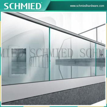 Aluminium U Tube Channel Glass Railing Glass Balcony Railing