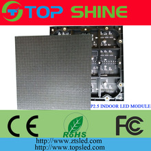 Indoor 64x64 dots rgb led matrix P2.5 SMD full color 3in1 LED Module P2.5 160x160mm