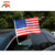 Customized design 30*45cm  american flag car with plastic car window flag poles