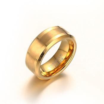 24k Saudi Mens Tungsten Gold Bar Ring Jewelry Buy Tungsten Gold