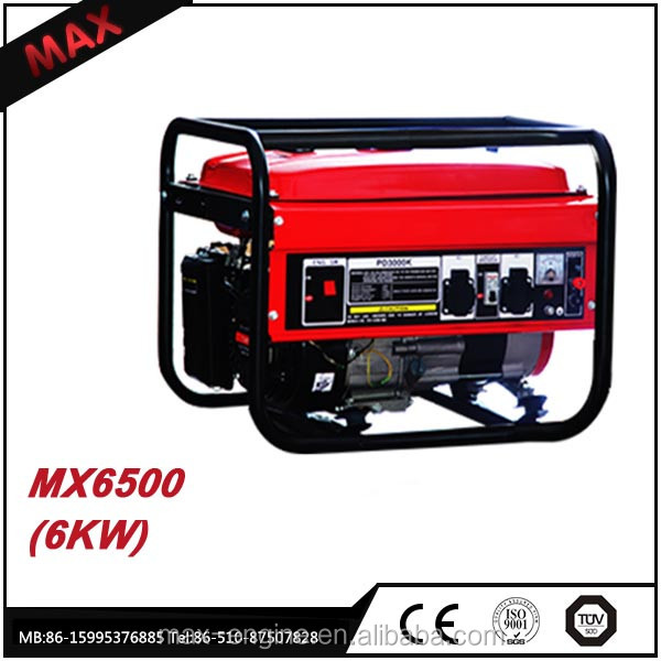 100% Copper Wire 220V Electric Start Home Use 6kw Gasoline Generator