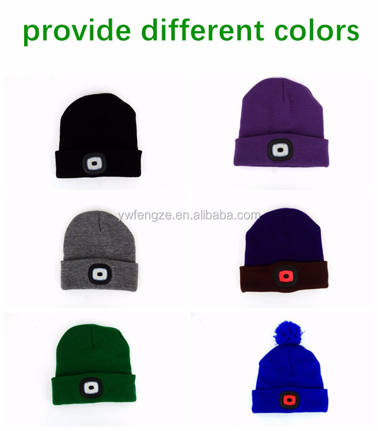 4b3fa8afb2b Unisex 4 Led Knitted Beanie Hat For Camping