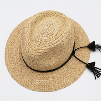 Foldable Wholesale Fancy Hats Custom Promotional Straw Summer Girl Panama Hat