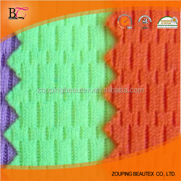 Factory supply knitted polyester jersey bird mesh cloth