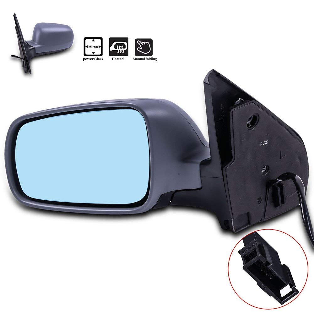 Door Mirrors ECCPP High Performance Left Side Mirror Replacement Driver Side Mirror with Power Adjusted Heated Manual Folding for Volkswagen Golf VW Wagon Jetta Sedan